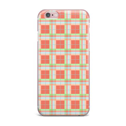 "afe images ""Summer Plaid Pattern"" Coral Pattern iPhone Case - KESS InHouse"