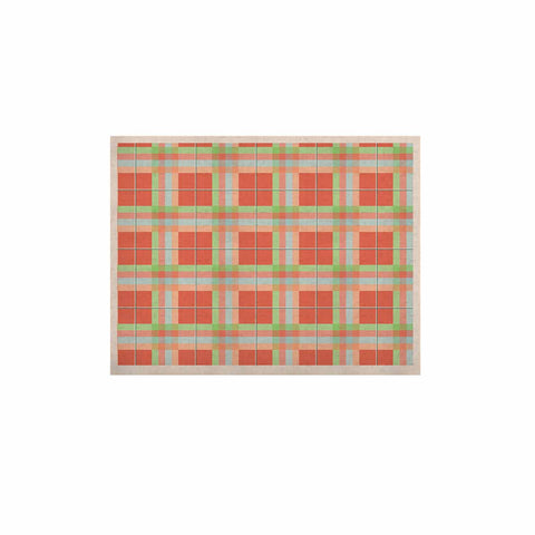 "afe images ""Summer Plaid Pattern"" Coral Pattern KESS Naturals Canvas (Frame not Included) - KESS InHouse  - 1"