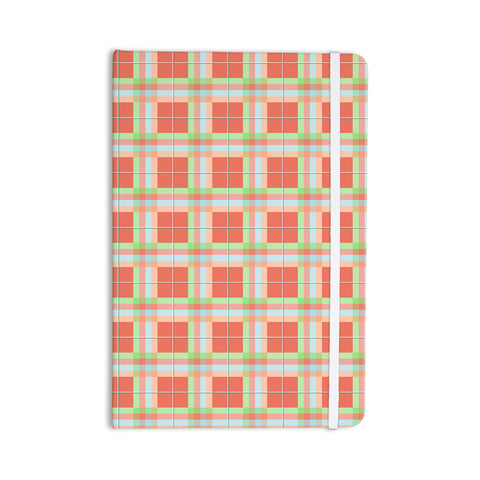 "afe images ""Summer Plaid Pattern"" Coral Pattern Everything Notebook - KESS InHouse  - 1"
