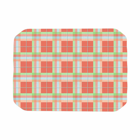 "afe images ""Summer Plaid Pattern"" Coral Pattern Place Mat - KESS InHouse"