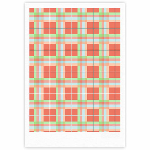 "afe images ""Summer Plaid Pattern"" Coral Pattern Fine Art Gallery Print - KESS InHouse"