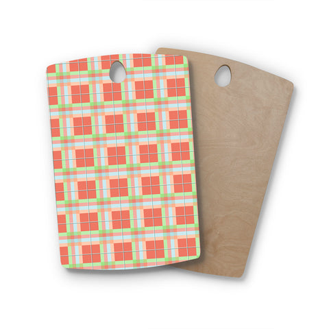 "afe images ""Summer Plad Pattern"" Rectangle Wooden Cutting Board"