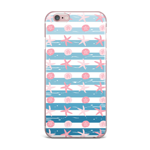"afe images ""Starfish And Sand Dollar Pattern"" Pink Blue Digital iPhone Case - KESS InHouse"
