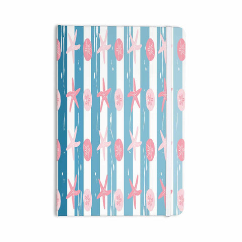 "afe images ""Starfish And Sand Dollar Pattern"" Pink Blue Digital Everything Notebook - KESS InHouse  - 1"
