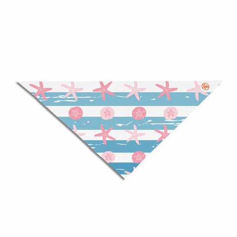 "afe images ""Starfish And Sand Dollar Pattern"" Pink Blue Digital Pet Bandana - KESS InHouse  - 1"