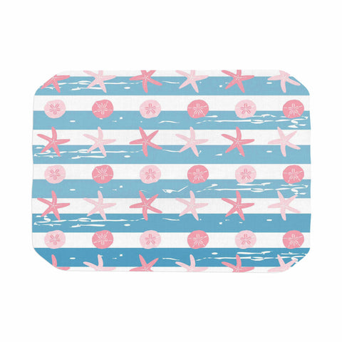 "afe images ""Starfish And Sand Dollar Pattern"" Pink Blue Digital Place Mat - KESS InHouse"