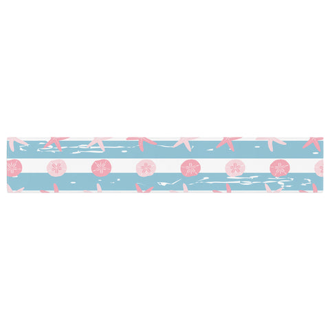 "afe images ""Starfish And Sand Dollar Pattern"" Pink Blue Digital Table Runner - KESS InHouse  - 1"
