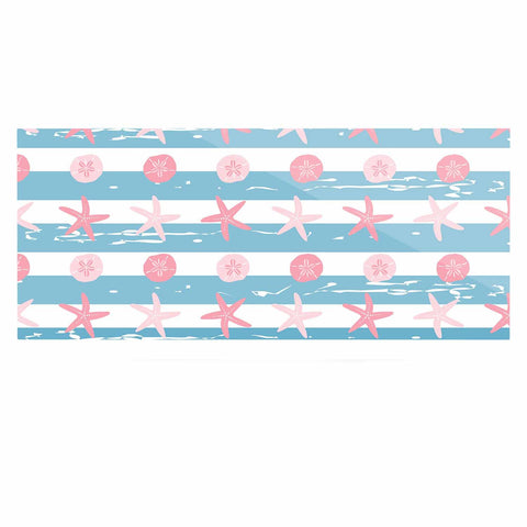 "afe images ""Starfish And Sand Dollar Pattern"" Pink Blue Digital Luxe Rectangle Panel - KESS InHouse  - 1"