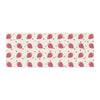 "afe images ""Chocolate Strawberries Pattern"" Red Pink Digital Bed Runner"