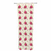 "afe images ""Chocolate Strawberries Pattern"" Red Pink Digital Decorative Sheer Curtain"