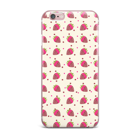 "afe images ""Chocolate Strawberries Pattern"" Red Pink Digital iPhone Case - KESS InHouse"