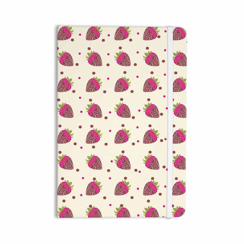 "afe images ""Chocolate Strawberries Pattern"" Red Pink Digital Everything Notebook - KESS InHouse  - 1"