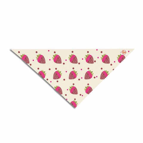 "afe images ""Chocolate Strawberries Pattern"" Red Pink Digital Pet Bandana"
