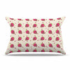 "afe images ""Chocolate Strawberries Pattern"" Red Pink Digital Pillow Sham"