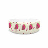 "afe images ""Chocolate Strawberries Pattern"" Red Pink Digital Pet Bowl"
