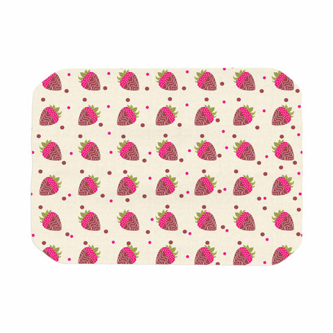 "afe images ""Chocolate Strawberries Pattern"" Red Pink Digital Place Mat"