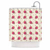 "afe images ""Chocolate Strawberries Pattern"" Red Pink Digital Shower Curtain"