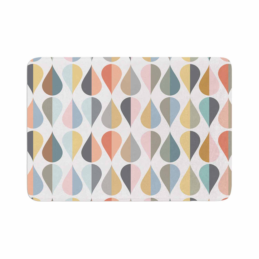 "afe images ""Tear Drops"" Multicolor Illustration Memory Foam Bath Mat"