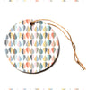 "afe images ""Tear Drops"" Multicolor Abstract Illustration Digital Circle Holiday Ornament"