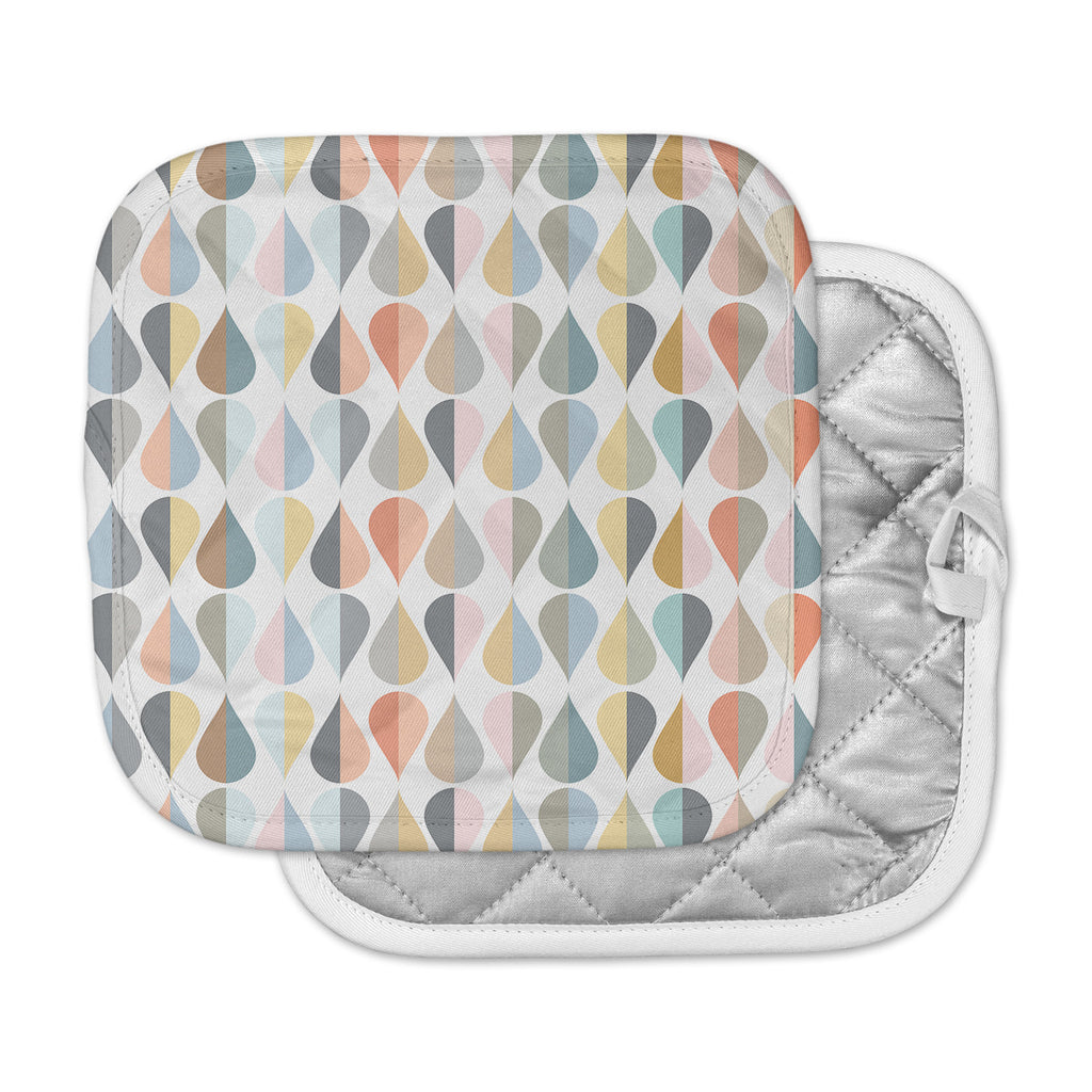 "afe images ""Tear Drops"" Multicolor Illustration Pot Holder"