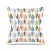 "afe images ""Tear Drops"" Multicolor Illustration Throw Pillow"