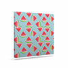 "afe images ""Watermelon Slices Pattern"" Red Blue Illustration Canvas Art - KESS InHouse  - 1"