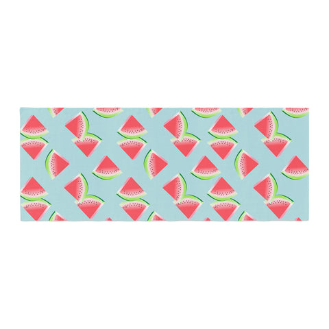 "afe images ""Watermelon Slices Pattern"" Red Blue Illustration Bed Runner"
