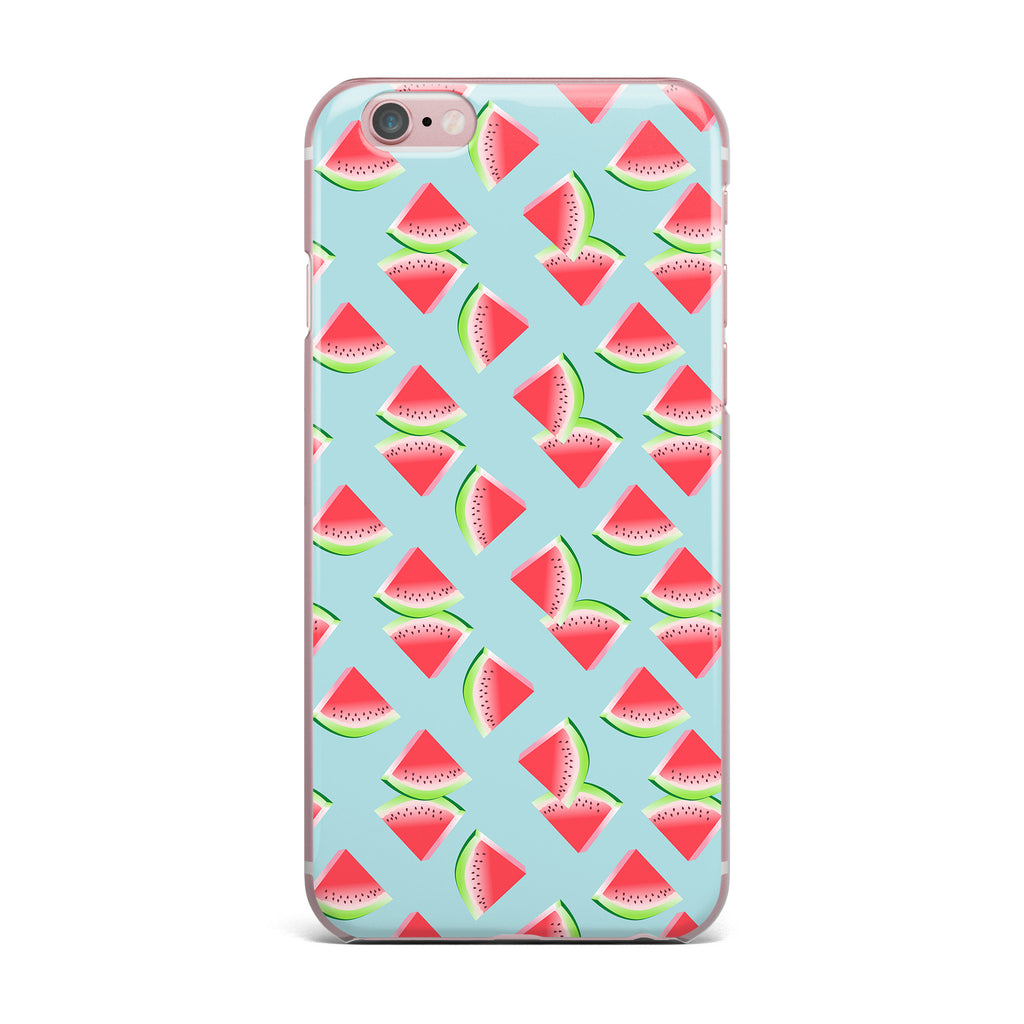 "afe images ""Watermelon Slices Pattern"" Red Blue Illustration iPhone Case - KESS InHouse"