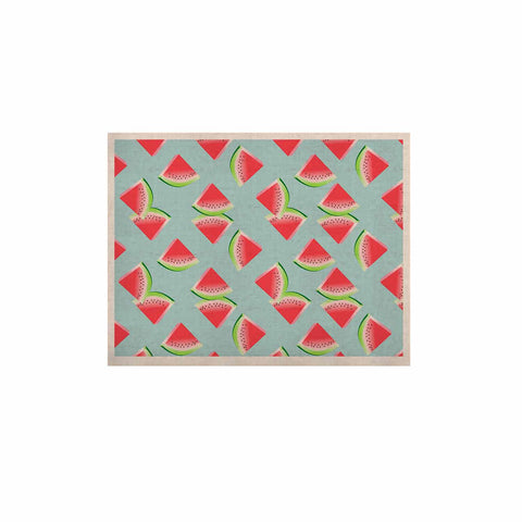 "afe images ""Watermelon Slices Pattern"" Red Blue Illustration KESS Naturals Canvas (Frame not Included)"