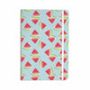 "afe images ""Watermelon Slices Pattern"" Red Blue Illustration Everything Notebook - KESS InHouse  - 1"