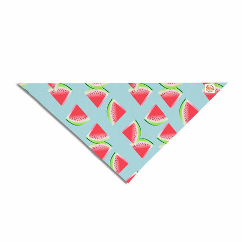"afe images ""Watermelon Slices Pattern"" Red Blue Illustration Pet Bandana"