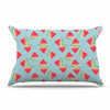 "afe images ""Watermelon Slices Pattern"" Red Blue Illustration Pillow Sham"