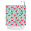 "afe images ""Watermelon Slices Pattern"" Red Blue Illustration Shower Curtain"