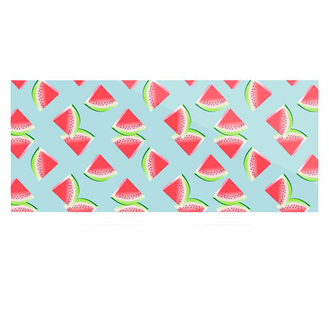 "afe images ""Watermelon Slices Pattern"" Red Blue Illustration Luxe Rectangle Panel"
