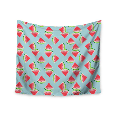 "afe images ""Watermelon Slices Pattern"" Red Blue Illustration Wall Tapestry - KESS InHouse  - 1"