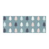 "afe images ""Christmas Tree Silhouettes"" Blue Pink Digital Bed Runner"