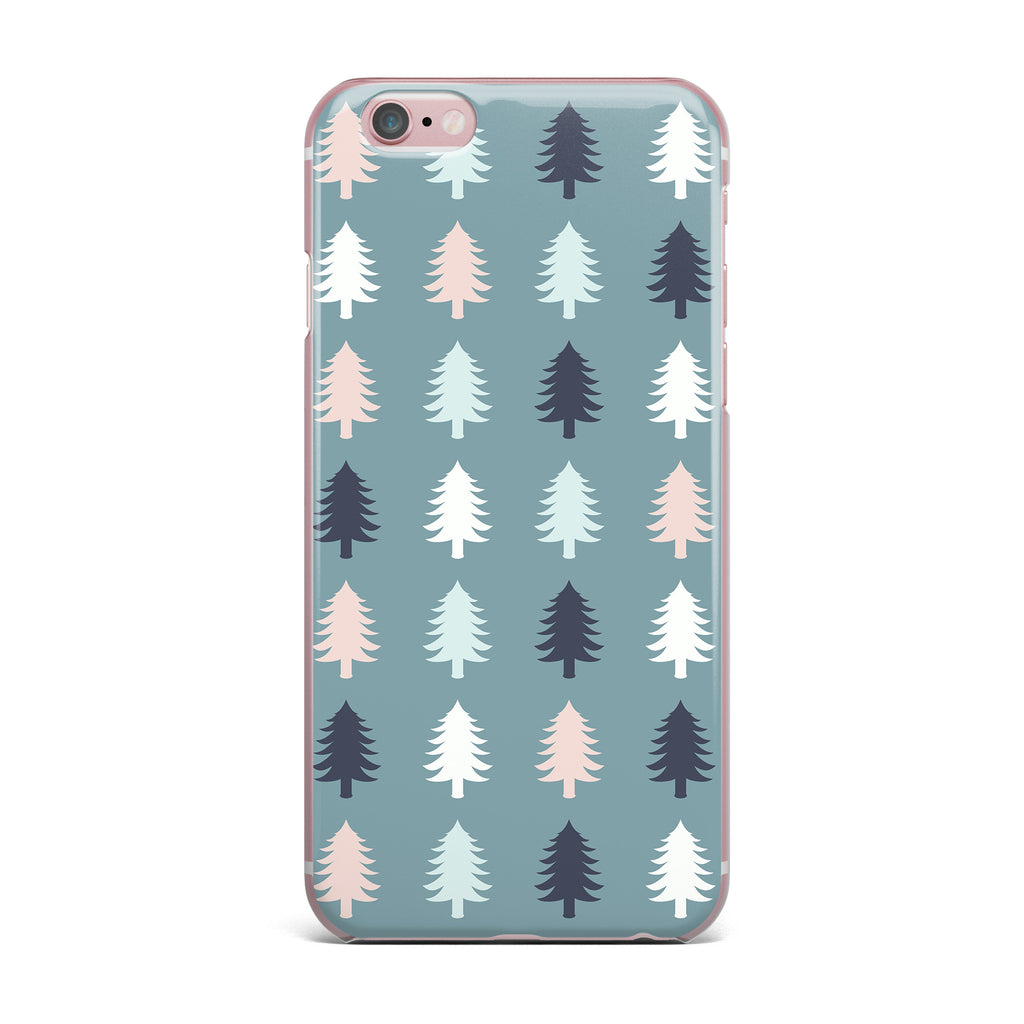 "afe images ""Christmas Tree Silhouettes"" Blue Pink Digital iPhone Case - KESS InHouse"