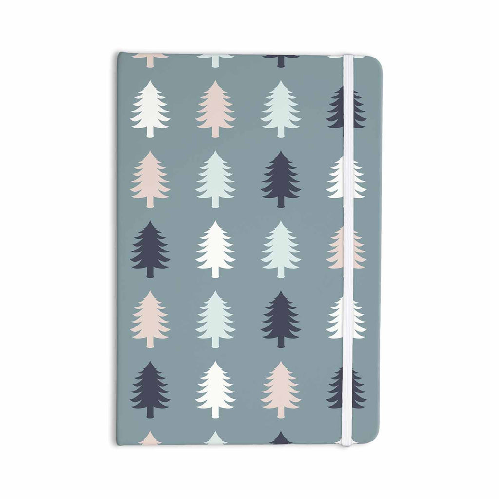 "afe images ""Christmas Tree Silhouettes"" Blue Pink Digital Everything Notebook - KESS InHouse  - 1"