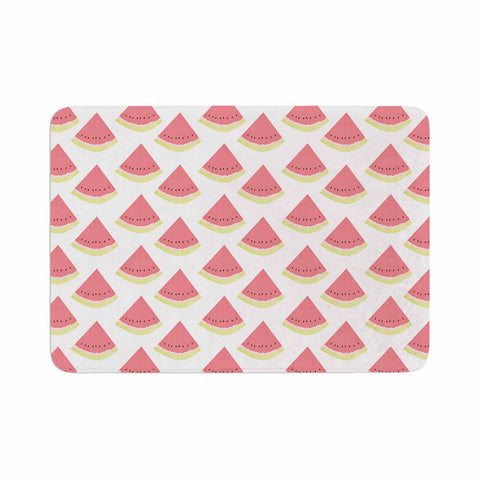 "afe images ""Watermelon Pattern 2"" Red White Illustration Memory Foam Bath Mat"
