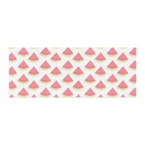 "afe images ""Watermelon Pattern 2"" Red White Illustration Bed Runner"