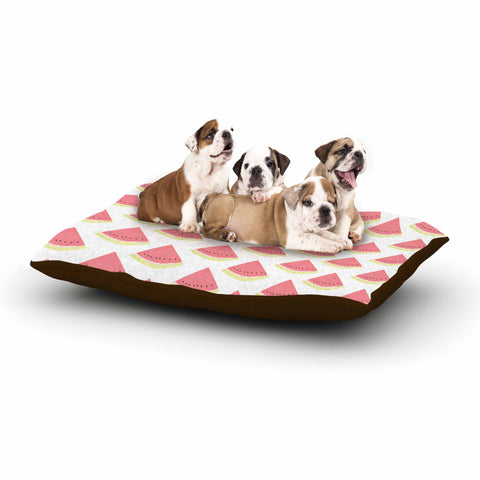 "afe images ""Watermelon Pattern 2"" Red White Illustration Dog Bed"