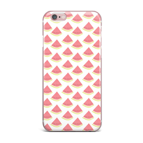 "afe images ""Watermelon Pattern 2"" Red White Illustration iPhone Case"