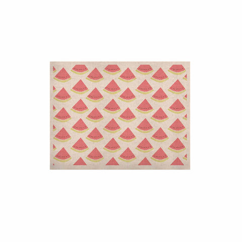 "afe images ""Watermelon Pattern 2"" Red White Illustration KESS Naturals Canvas (Frame not Included)"