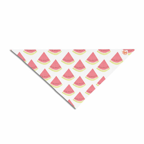 "afe images ""Watermelon Pattern 2"" Red White Illustration Pet Bandana"