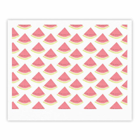 "afe images ""Watermelon Pattern 2"" Red White Illustration Fine Art Gallery Print"