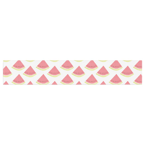 "afe images ""Watermelon Pattern 2"" Red White Illustration Table Runner"