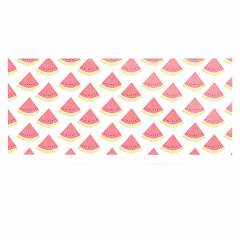 "afe images ""Watermelon Pattern 2"" Red White Illustration Luxe Rectangle Panel"