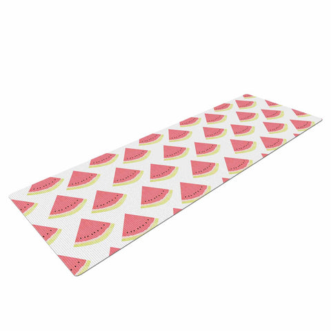 "afe images ""Watermelon Pattern 2"" Red White Illustration Yoga Mat"