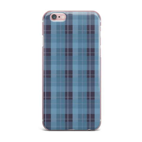 "afe images ""Blue Plaid Pattern II"" Blue Multicolor Illustration iPhone Case"