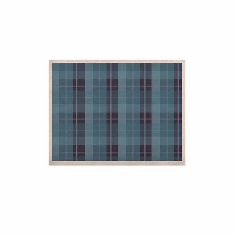 "afe images ""Blue Plaid Pattern II"" Blue Multicolor Illustration KESS Naturals Canvas (Frame not Included)"
